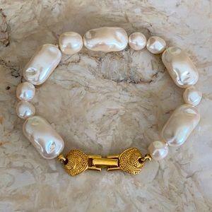 Vintage Richelieu Baroque Faux Pearl Bracelet